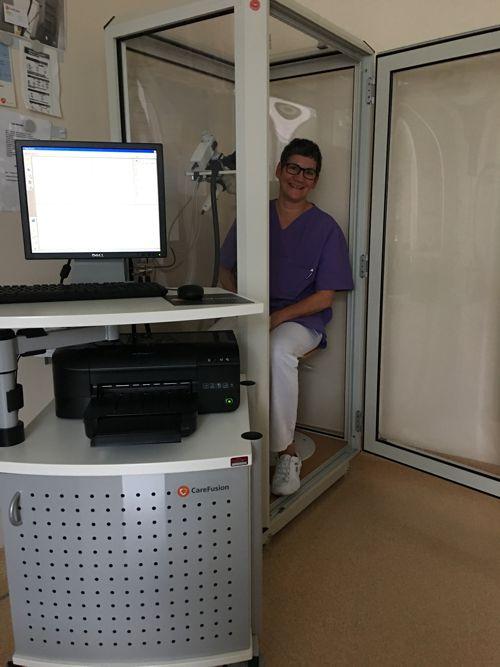 Ganzkörper-Bodyplethysmographie