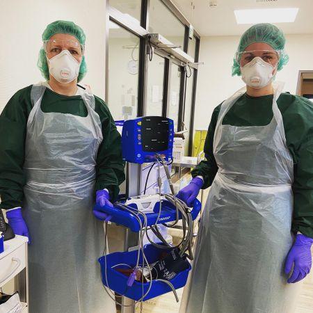 Schutzkleidung zur Behandlung von COVID19 Patienten