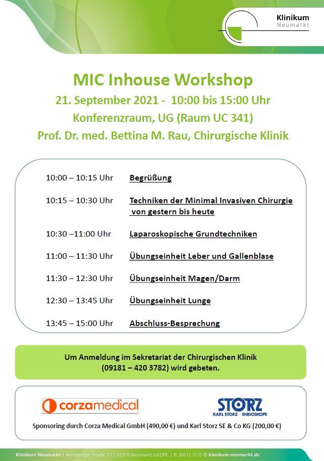MIC Inhouse Workshop
